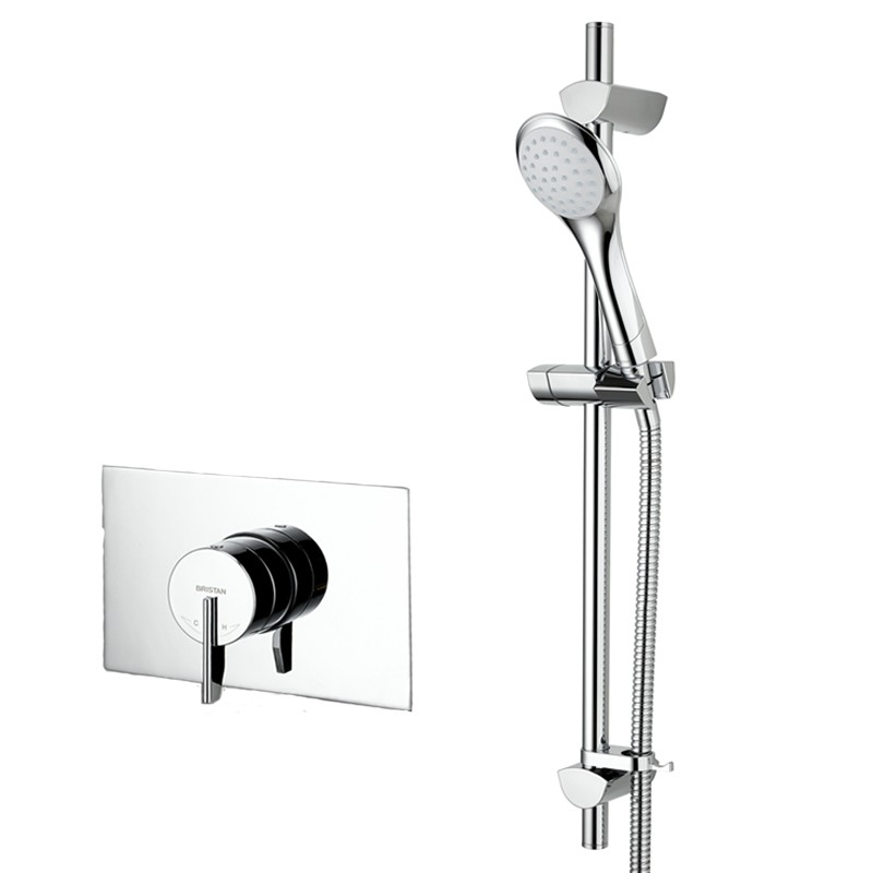 Sonique Recessed Shower with Adjustable Riser