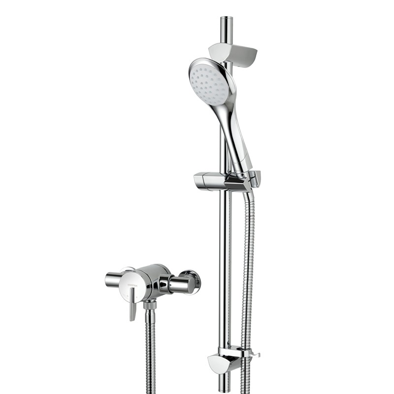 Sonique Exposed Shower with Adjustable Riser