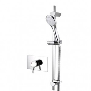 Acute Recessed Shower with Adjustable Riser